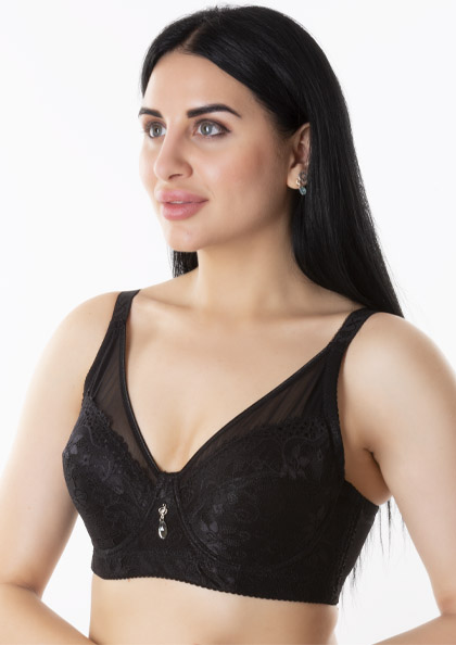 Femina Lace Underwired Full Cup Minimizer T-Shirt Bra in DD-Cup Size | Lovebird